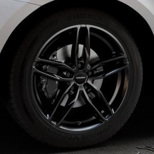 CARMANI 13 Twinmax black Felge mit Reifen schwarz in 19Zoll Winterfelge Alufelge auf silbernem Volvo XC60 Typ D Facelift ⬇️ mit 15mm Tieferlegung ⬇️ Industriehalle 1 Thumbnail