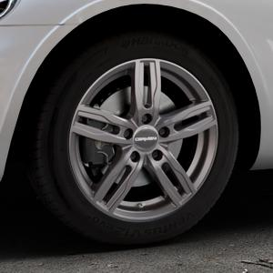 CARMANI 14 Paul hyper gun Felge mit Reifen silber in 16Zoll Winterfelge Alufelge auf silbernem Chrysler PT Cruiser Cabriolet ⬇️ mit 15mm Tieferlegung ⬇️ Industriehalle 1 Thumbnail