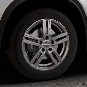 CARMANI 14 Paul hyper gun Felge mit Reifen silber in 16Zoll Winterfelge Alufelge auf silbernem Suzuki Vitara Typ LY ⬇️ mit 15mm Tieferlegung ⬇️ Industriehalle 1 Thumbnail