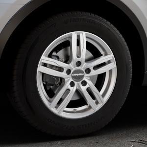 CARMANI 14 Paul kristall silber Felge mit Reifen in 16Zoll Winterfelge Alufelge auf silbernem Audi Q3 I Typ 8U Facelift ⬇️ mit 15mm Tieferlegung ⬇️ Industriehalle 1 Thumbnail