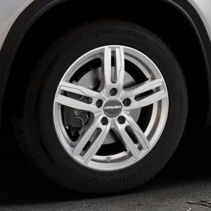 CARMANI 14 Paul kristall silber Felge mit Reifen in 16Zoll Winterfelge Alufelge auf silbernem Suzuki Vitara Typ LY ⬇️ mit 15mm Tieferlegung ⬇️ Industriehalle 1 Thumbnail