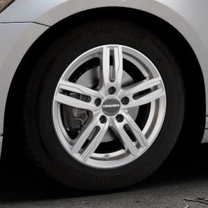 CARMANI 14 Paul kristall silber Felge mit Reifen in 16Zoll Winterfelge Alufelge auf silbernem Volkswagen (VW) Passat 3C/B8 Limousine Variant ⬇️ mit 15mm Tieferlegung ⬇️ Industriehalle 1 Thumbnail