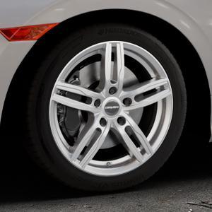 CARMANI 14 Paul kristall silber Felge mit Reifen in 17Zoll Winterfelge Alufelge auf silbernem Honda Civic 10 Schrägheck (FC) ⬇️ mit 15mm Tieferlegung ⬇️ Industriehalle 1 Thumbnail