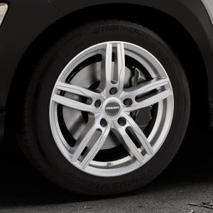 CARMANI 14 Paul kristall silber Felge mit Reifen in 17Zoll Winterfelge Alufelge auf silbernem Hyundai Kona Typ OS ⬇️ mit 15mm Tieferlegung ⬇️ Industriehalle 1 Thumbnail