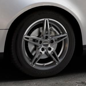 CARMANI 15 Oskar hyper gun Felge mit Reifen silber in 16Zoll Winterfelge Alufelge auf silbernem Volkswagen (VW) Passat 3C/B6 Variant ⬇️ mit 15mm Tieferlegung ⬇️ Industriehalle 1 Thumbnail