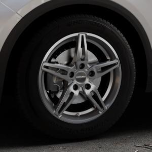 CARMANI 15 Oskar hyper gun Felge mit Reifen silber in 16Zoll Winterfelge Alufelge auf silbernem Volkswagen (VW) T-Roc ⬇️ mit 15mm Tieferlegung ⬇️ Industriehalle 1 Thumbnail