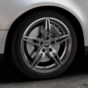CARMANI 15 Oskar hyper gun Felge mit Reifen silber in 17Zoll Winterfelge Alufelge auf silbernem Volkswagen (VW) Passat 3C/B6 Variant ⬇️ mit 15mm Tieferlegung ⬇️ Industriehalle 1 Thumbnail
