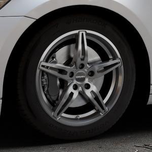 CARMANI 15 Oskar hyper gun Felge mit Reifen silber in 17Zoll Winterfelge Alufelge auf silbernem Volkswagen (VW) Passat 3C/B8 Limousine Variant ⬇️ mit 15mm Tieferlegung ⬇️ Industriehalle 1 Thumbnail