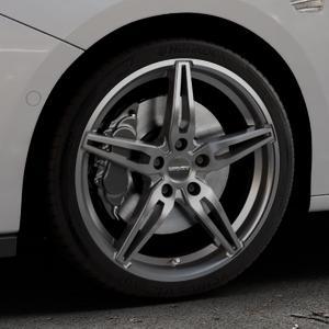CARMANI 15 Oskar hyper gun Felge mit Reifen silber in 18Zoll Winterfelge Alufelge auf silbernem Opel Astra K Typ B-K ⬇️ mit 15mm Tieferlegung ⬇️ Industriehalle 1 Thumbnail