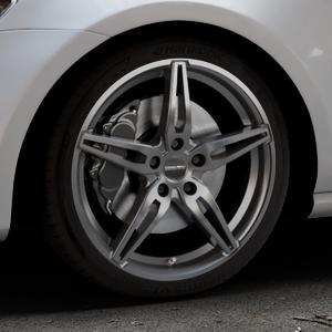 CARMANI 15 Oskar hyper gun Felge mit Reifen silber in 18Zoll Winterfelge Alufelge auf silbernem Volkswagen (VW) Golf 7 ⬇️ mit 15mm Tieferlegung ⬇️ Industriehalle 1 Thumbnail