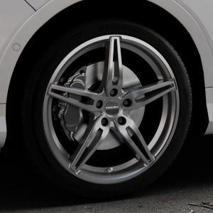 CARMANI 15 Oskar hyper gun Felge mit Reifen silber in 19Zoll Winterfelge Alufelge auf silbernem Ford Kuga II Facelift (15->) (17->) ⬇️ mit 15mm Tieferlegung ⬇️ Industriehalle 1 Thumbnail