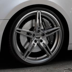 CARMANI 15 Oskar hyper gun Felge mit Reifen silber in 20Zoll Winterfelge Alufelge auf silbernem Audi A4 Typ B9 (Avant) ⬇️ mit 15mm Tieferlegung ⬇️ Industriehalle 1 Thumbnail