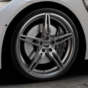 CARMANI 15 Oskar hyper gun Felge mit Reifen silber in 20Zoll Winterfelge Alufelge auf silbernem BMW M4 Typ F83 (Cabrio) 3,0l 317kW (431 PS) ⬇️ mit 15mm Tieferlegung ⬇️ Industriehalle 1 Thumbnail