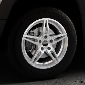 CARMANI 15 Oskar kristall silber Felge mit Reifen in 16Zoll Winterfelge Alufelge auf silbernem Jeep Renegade Typ BU ⬇️ mit 15mm Tieferlegung ⬇️ Industriehalle 1 Thumbnail