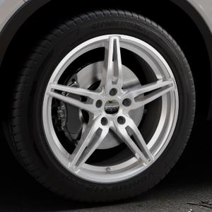 CARMANI 15 Oskar kristall silber Felge mit Reifen in 19Zoll Winterfelge Alufelge auf silbernem Volvo XC40 Typ X ⬇️ mit 15mm Tieferlegung ⬇️ Industriehalle 1 Thumbnail