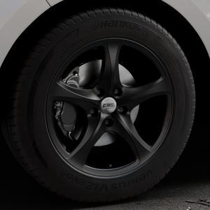 CMS C12 Complete Matt Black Felge mit Reifen schwarz in 18Zoll Winterfelge Alufelge auf silbernem Ford Edge Typ SBF ⬇️ mit 15mm Tieferlegung ⬇️ Industriehalle 1 Thumbnail