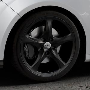 CMS C12 Complete Matt Black Felge mit Reifen schwarz in 18Zoll Winterfelge Alufelge auf silbernem Ford Focus III Typ DYB (Schrägheck) (Stufenheck) Facelift ⬇️ mit 15mm Tieferlegung ⬇️ Industriehalle 1 Thumbnail