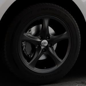 CMS C12 Complete Matt Black Felge mit Reifen schwarz in 18Zoll Winterfelge Alufelge auf silbernem Jaguar F-Pace Typ DC ⬇️ mit 15mm Tieferlegung ⬇️ Industriehalle 1 Thumbnail