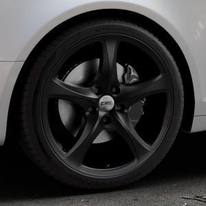 CMS C12 Complete Matt Black Felge mit Reifen schwarz in 19Zoll Winterfelge Alufelge auf silbernem Audi A6 Typ 4F/C6 (Avant) ⬇️ mit 15mm Tieferlegung ⬇️ Industriehalle 1 Thumbnail