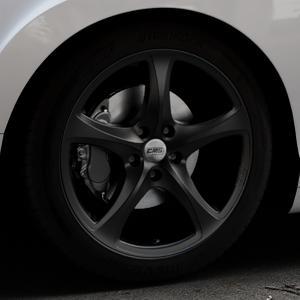 CMS C12 Complete Matt Black Felge mit Reifen schwarz in 19Zoll Winterfelge Alufelge auf silbernem Bentley Continental Flying Spur GT GTC ⬇️ mit 15mm Tieferlegung ⬇️ Industriehalle 1 Thumbnail