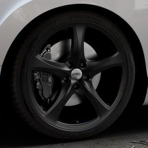 CMS C12 Complete Matt Black Felge mit Reifen schwarz in 20Zoll Winterfelge Alufelge auf silbernem Bentley Continental Flying Spur GT GTC ⬇️ mit 15mm Tieferlegung ⬇️ Industriehalle 1 Thumbnail