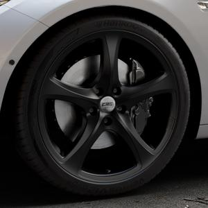 CMS C12 Complete Matt Black Felge mit Reifen schwarz in 20Zoll Winterfelge Alufelge auf silbernem BMW 535i GT Typ F07 xDrive 550i 530d 535d 520d 528i ⬇️ mit 15mm Tieferlegung ⬇️ Industriehalle 1 Thumbnail