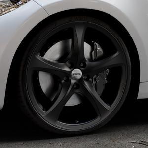 CMS C12 Complete Matt Black Felge mit Reifen schwarz in 20Zoll Winterfelge Alufelge auf silbernem BMW M2 Typ F87 ⬇️ mit 15mm Tieferlegung ⬇️ Industriehalle 1 Thumbnail