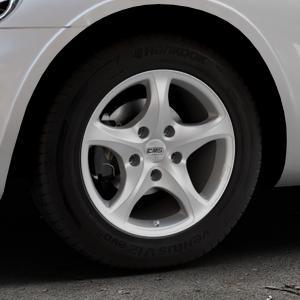 CMS C12 Silver Felge mit Reifen silber in 15Zoll Winterfelge Alufelge auf silbernem Chrysler PT Cruiser Cabriolet ⬇️ mit 15mm Tieferlegung ⬇️ Industriehalle 1 Thumbnail