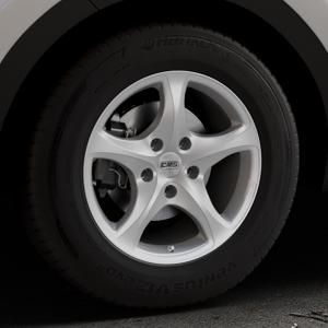 CMS C12 Silver Felge mit Reifen silber in 16Zoll Winterfelge Alufelge auf silbernem Kia Sportage IV Typ QL QLE ⬇️ mit 15mm Tieferlegung ⬇️ Industriehalle 1 Thumbnail