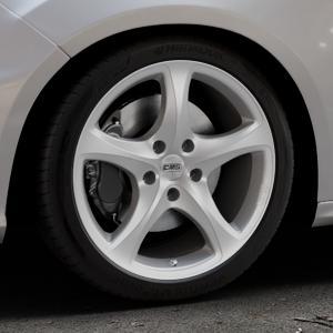 CMS C12 Silver Felge mit Reifen silber in 18Zoll Winterfelge Alufelge auf silbernem Ford Focus III Typ DYB Facelift (Schrägheck) 2,3l EcoBoost 257kW RS (349 PS) ⬇️ mit 15mm Tieferlegung ⬇️ Industriehalle 1 Thumbnail