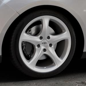 CMS C12 Silver Felge mit Reifen silber in 18Zoll Winterfelge Alufelge auf silbernem Ford Focus III Typ DYB Facelift (Turnier) ⬇️ mit 15mm Tieferlegung ⬇️ Industriehalle 1 Thumbnail