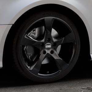 CMS C18 Complete Black Gloss Felge mit Reifen schwarz mehrfarbig in 18Zoll Winterfelge Alufelge auf silbernem Audi A3 Typ 8V Facelift ⬇️ mit 15mm Tieferlegung ⬇️ Industriehalle 1 Thumbnail
