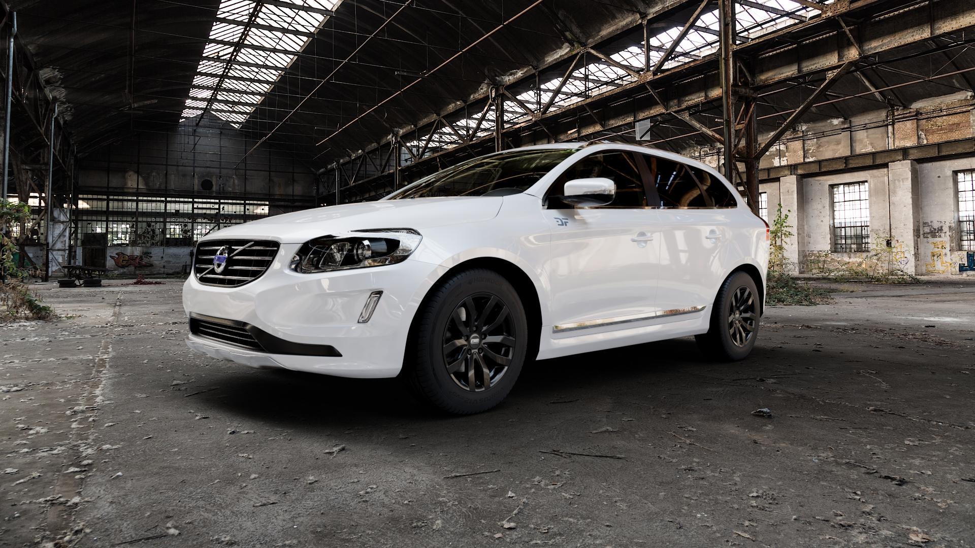 CMS C22 Complete Black Gloss Felge mit Reifen in 17Zoll Winterfelge Alufelge auf weissem Volvo XC60 Typ D Facelift ⬇️ mit 15mm Tieferlegung ⬇️ Industriehalle 1 Camera_000