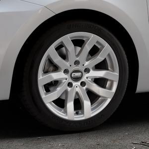 CMS C22 Racing Silver Felge mit Reifen silber in 16Zoll Winterfelge Alufelge auf silbernem Suzuki Swift VI Typ AZ ⬇️ mit 15mm Tieferlegung ⬇️ Industriehalle 1 Thumbnail