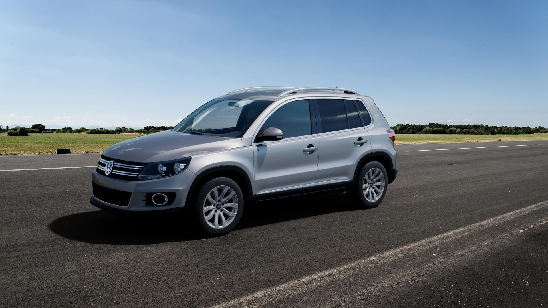 CMS C22 Racing Silver Felge mit Reifen silber in 17Zoll Winterfelge Alufelge auf silbernem Volkswagen (VW) Tiguan I Typ 5N 2,0l TDI 103kW (140 PS) 4Motion 1,4l TSI 118kW (160 155kW (211 132kW (179 81kW (110 120kW (163 100kW (136 130kW (177 92kW (125 110kW (150 135kW (184 ⬇️ mit 15mm Tieferlegung ⬇️ Big_Vehicle_Airstrip_1 Frontansi
