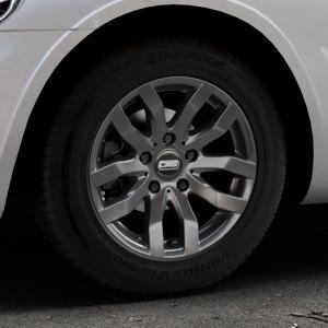 CMS C22 Titan Gloss Felge mit Reifen grau in 15Zoll Winterfelge Alufelge auf silbernem Chrysler PT Cruiser Cabriolet ⬇️ mit 15mm Tieferlegung ⬇️ Industriehalle 1 Thumbnail