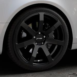 Corspeed Challenge Mattblack Puresports Felge mit Reifen schwarz in 19Zoll Winterfelge Alufelge auf silbernem Audi A6 Typ 4F/C6 (Avant) ⬇️ mit 15mm Tieferlegung ⬇️ Industriehalle 1 Thumbnail