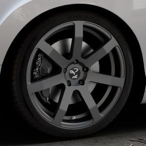 Corspeed Challenge Mattblack Puresports Felge mit Reifen schwarz in 20Zoll Winterfelge Alufelge auf silbernem Bentley Continental Flying Spur GT GTC ⬇️ mit 15mm Tieferlegung ⬇️ Industriehalle 1 Thumbnail