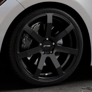 Corspeed Challenge Mattblack Puresports Felge mit Reifen schwarz in 20Zoll Winterfelge Alufelge auf silbernem Ford Mustang VI Coupe Typ LAE Cabrio ⬇️ mit 15mm Tieferlegung ⬇️ Industriehalle 1 Thumbnail