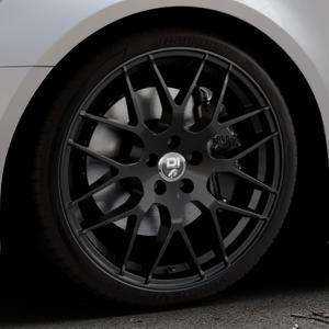 Damina Performance DM01 MATT BLACK Felge mit Reifen schwarz in 20Zoll Winterfelge Alufelge auf silbernem Audi A6 Typ 4G/C7 (Avant) Facelift ⬇️ mit 15mm Tieferlegung ⬇️ Industriehalle 1 Thumbnail