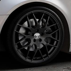 Damina Performance DM01 MATT BLACK Felge mit Reifen schwarz in 20Zoll Winterfelge Alufelge auf silbernem Audi A6 Typ 4G/C7 (Avant) ⬇️ mit 15mm Tieferlegung ⬇️ Industriehalle 1 Thumbnail