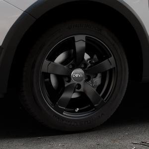 DBV Torino II schwarz matt Felge mit Reifen in 15Zoll Winterfelge Alufelge auf silbernem Dacia Sandero Stepway II Typ SD ⬇️ mit 15mm Tieferlegung ⬇️ Industriehalle 1 Thumbnail
