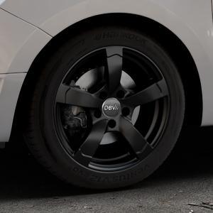 DBV Torino II schwarz matt Felge mit Reifen in 16Zoll Winterfelge Alufelge auf silbernem Dacia Logan II Typ SD ⬇️ mit 15mm Tieferlegung ⬇️ Industriehalle 1 Thumbnail