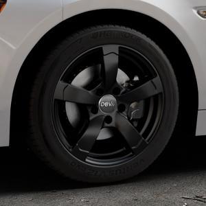 DBV Torino II schwarz matt Felge mit Reifen in 16Zoll Winterfelge Alufelge auf silbernem Fiat 124 Spider Typ NF ⬇️ mit 15mm Tieferlegung ⬇️ Industriehalle 1 Thumbnail