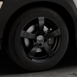 DBV Torino II schwarz matt Felge mit Reifen in 16Zoll Winterfelge Alufelge auf silbernem Hyundai Kona Typ OS ⬇️ mit 15mm Tieferlegung ⬇️ Industriehalle 1 Thumbnail