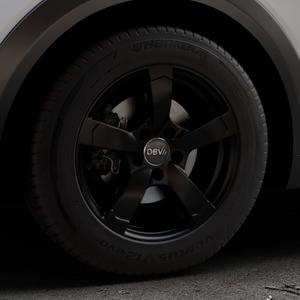 DBV Torino II schwarz matt Felge mit Reifen in 16Zoll Winterfelge Alufelge auf silbernem Mazda CX-3 Typ DJ1 ⬇️ mit 15mm Tieferlegung ⬇️ Industriehalle 1 Thumbnail