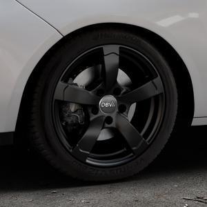 DBV Torino II schwarz matt Felge mit Reifen in 16Zoll Winterfelge Alufelge auf silbernem Opel Adam ⬇️ mit 15mm Tieferlegung ⬇️ Industriehalle 1 Thumbnail
