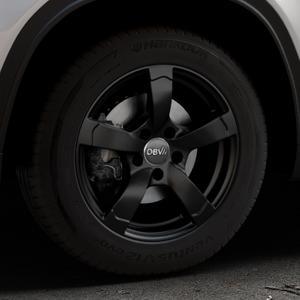 DBV Torino II schwarz matt Felge mit Reifen in 16Zoll Winterfelge Alufelge auf silbernem Suzuki Vitara Typ LY ⬇️ mit 15mm Tieferlegung ⬇️ Industriehalle 1 Thumbnail