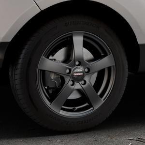 DEZENT RE Black matt Felge mit Reifen schwarz in 16Zoll Winterfelge Alufelge auf silbernem Ford EcoSport Typ JK8 Facelift ⬇️ mit 15mm Tieferlegung ⬇️ Industriehalle 1 Thumbnail