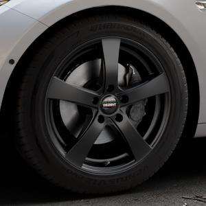 DEZENT RE Black matt Felge mit Reifen schwarz in 18Zoll Winterfelge Alufelge auf silbernem BMW 535i GT Typ F07 xDrive 550i 530d 535d 520d 528i ⬇️ mit 15mm Tieferlegung ⬇️ Industriehalle 1 Thumbnail